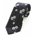 Silk Neck Tie // Black + White Floral