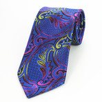 Silk Neck Tie + Gift Box // Paisley Multi Color