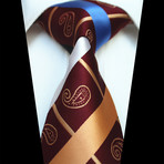 Silk Neck Tie // Burgundy Paisley