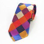 Silk Neck Tie + Gift Box // Checked Multi Color