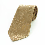 Silk Neck Tie + Gift Box // Solid Gold Paisley