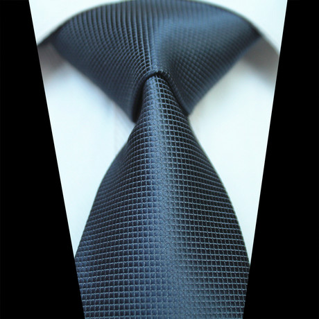 Silk Neck Tie // Solid Gray