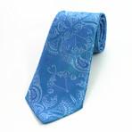 Silk Neck Tie // Blue Paisley