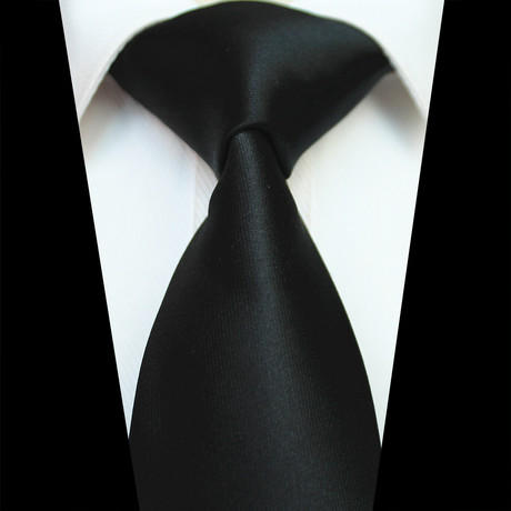 Silk Neck Tie // Solid Black