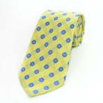 Silk Neck Tie // Yellow + Blue Floral