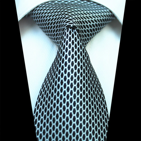 Silk Neck Tie // Black + White