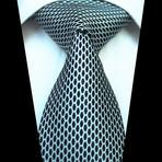 Silk Neck Tie + Gift Box // Black + White