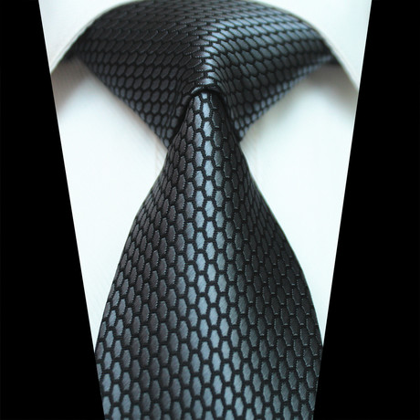 Silk Neck Tie // Metallic Gray