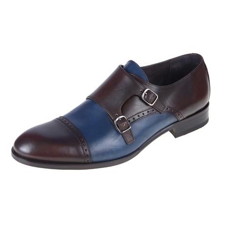 Monk Shoe // Brown-Jeans // CS0127 (Euro: 40)