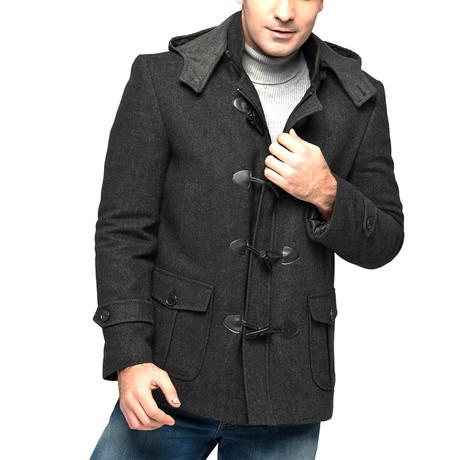 PLT8310 Overcoat // Patterned Black (M)