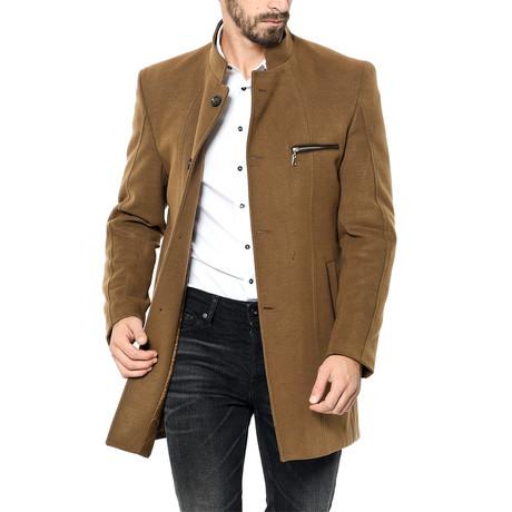 PLT8322 Overcoat // Camel (M)