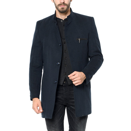 PLT8322 Overcoat // Dark Blue (2XL)