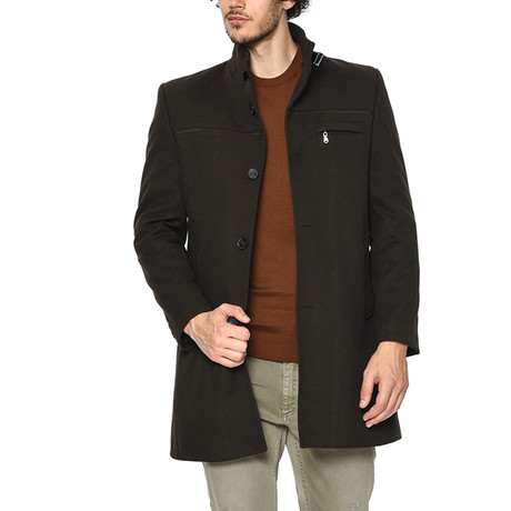 PLT8324 Dewberry Overcoat // Dark Brown (M)