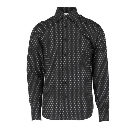 Orlando Long-Sleeve Regular Fit Shirt // Black + White (XS)