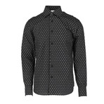 Orlando Long Sleeve Regular Fit Shirt // Black + White (XS)
