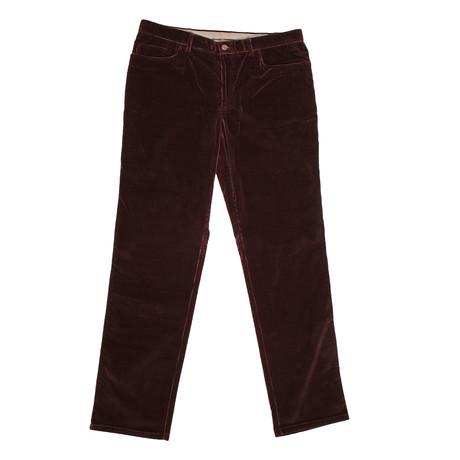 Corduroy Jean Style Pants // Burgundy (44WX32L)
