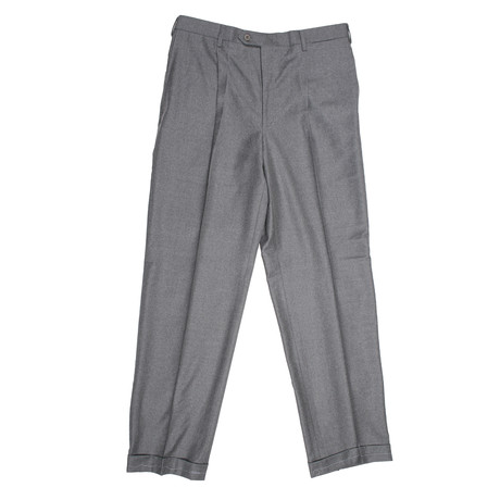 Luxurious Super 150'S Wool Dress Pants // Gray (28)