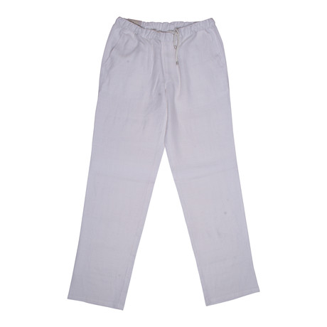 Luxurious Casual Draw String Pants // White (28)
