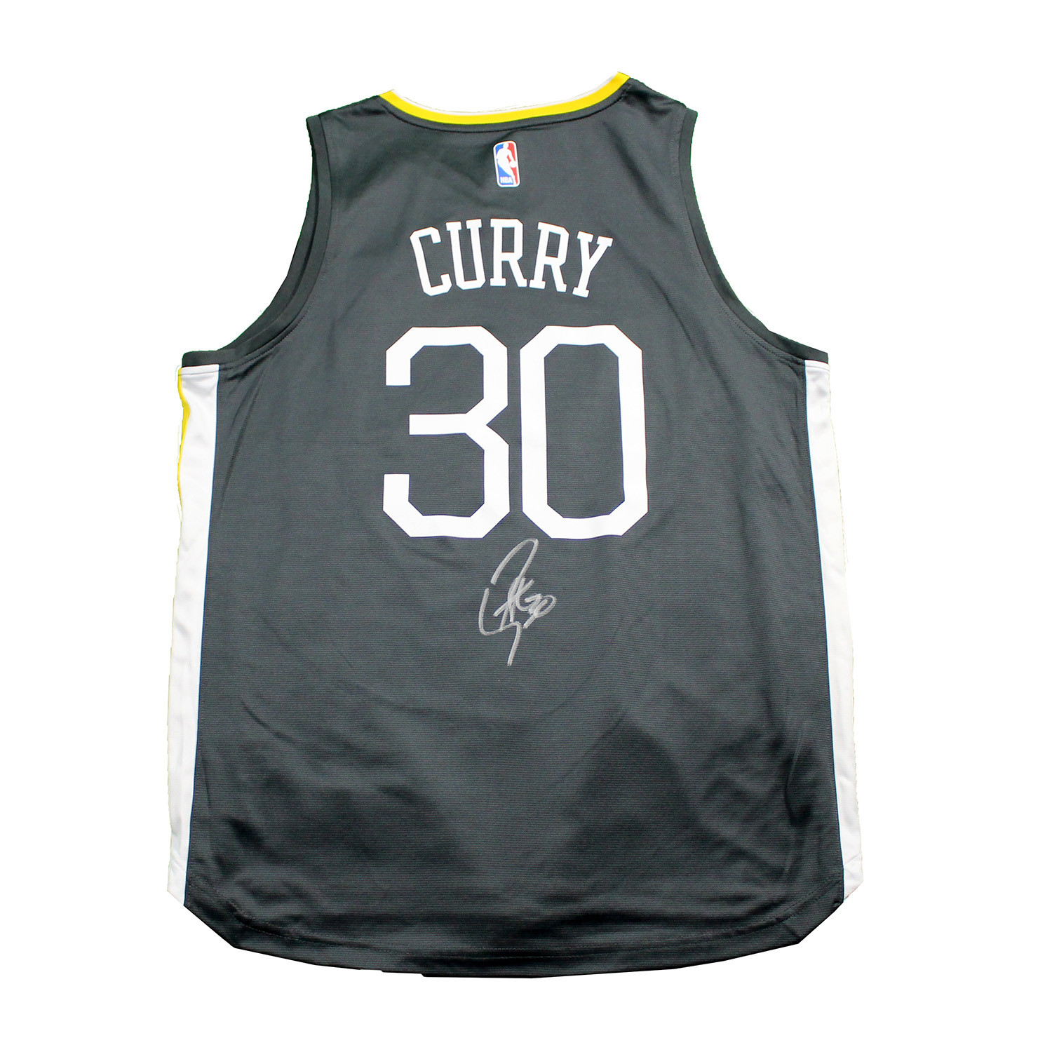 huge selection of 5d047 258ee Stephen Curry Signed Golden State Warriors Replica Jersey ...