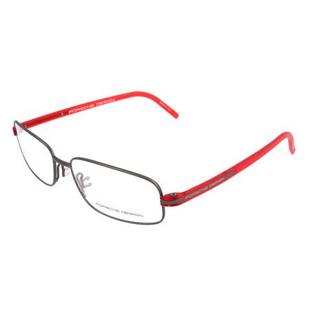 Men's P8125 Optical Frames // Bordeaux