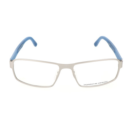 Men's P8231 Frames // Silver Matte + Blue Mate