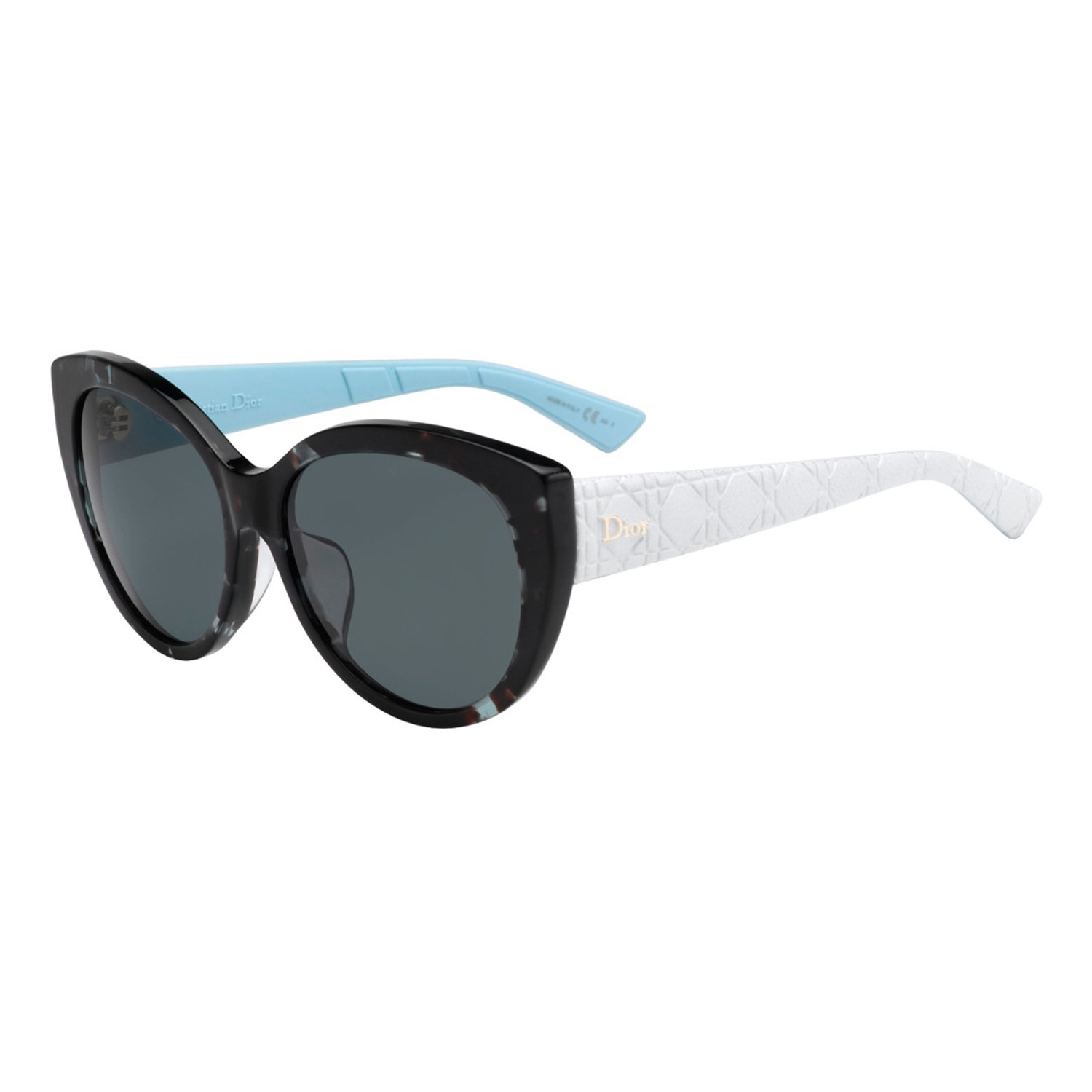 Dior LADY 1RF Sunglasses // Grey Havana + White Frames + Grey Lenses ...