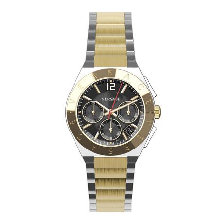 Versace Landmark Round Chronograph Swiss Quartz // VEWO00518