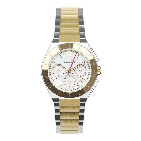 Versace Landmark Round Chronograph Swiss Quartz // VEWO00418
