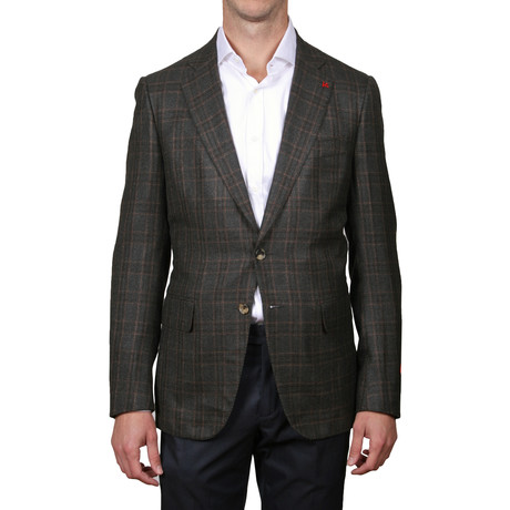 Gregory 2-Button Cashsmere Blend Blazer // Brown (Euro: 48)