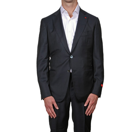 ISAIA // 2 Button Suit // Navy (Euro: 48)