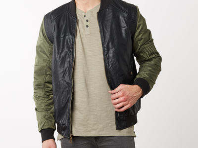 Photo of CLEARANCE: Outerwear We've Got You Covered Kenny Vegan Leather Jacket // Black (S) by Touch Of Modern