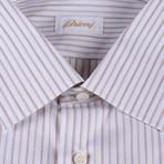Arthur Dress Shirt // Brown + White (US: 41)