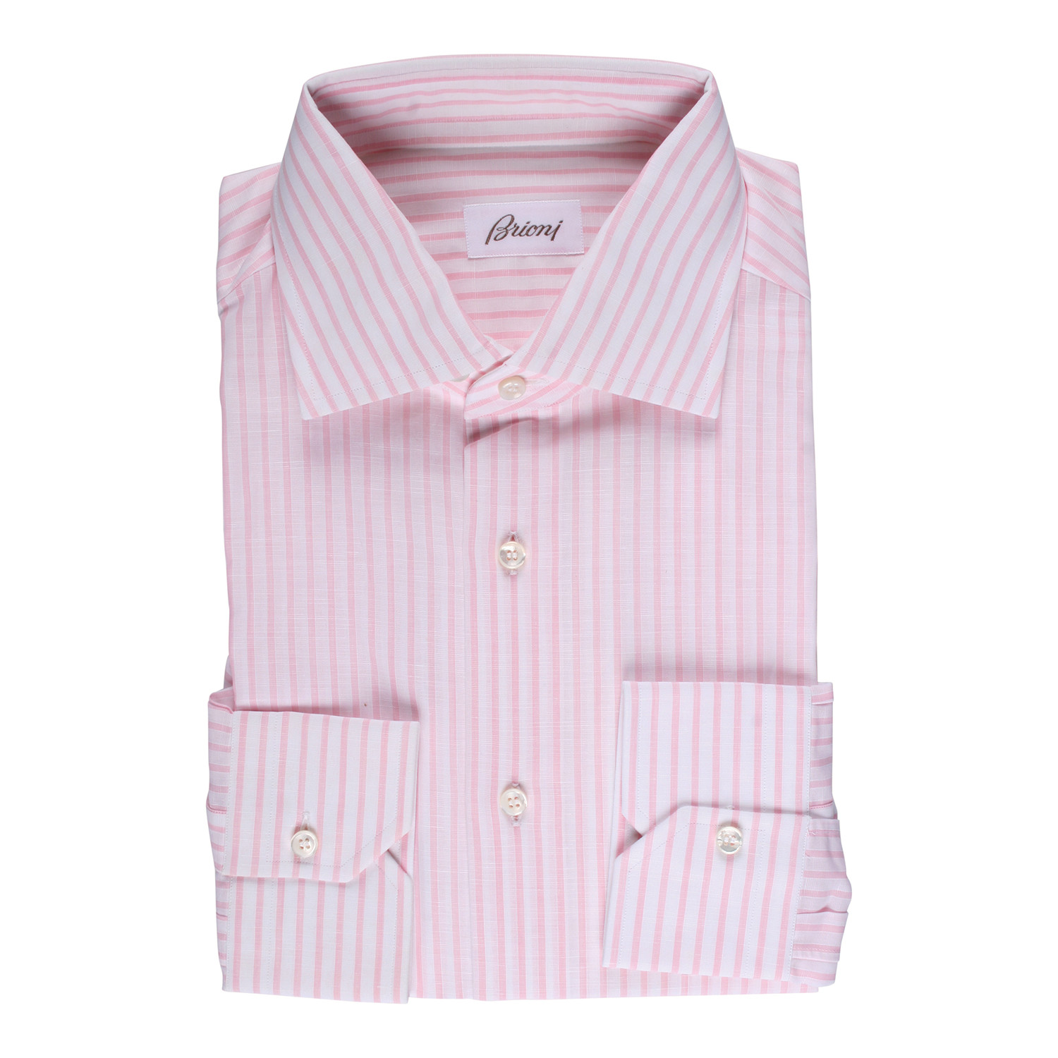 Brioni Chester Dress Shirt Pink Euro 39 Immaculate Dress