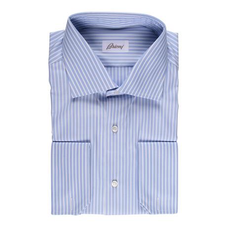 Brioni // Earl Dress Shirt // Blue (Euro: 43)