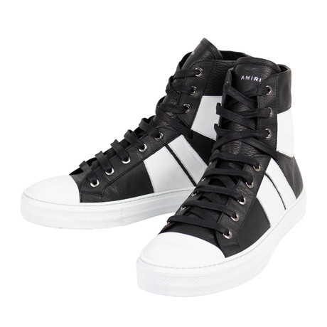 Amiri // Sunset Leather Hi-Top Sneakers // Black (US: 6)