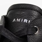 Amiri // Sunset Leather Hi-Top Sneakers // Black (US: 6)