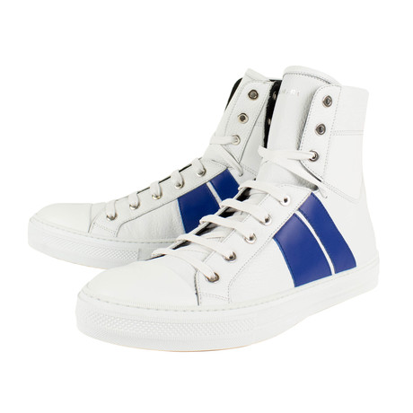 Amiri // Sunset Hi-Top Sneakers // White + Blue (US: 6)