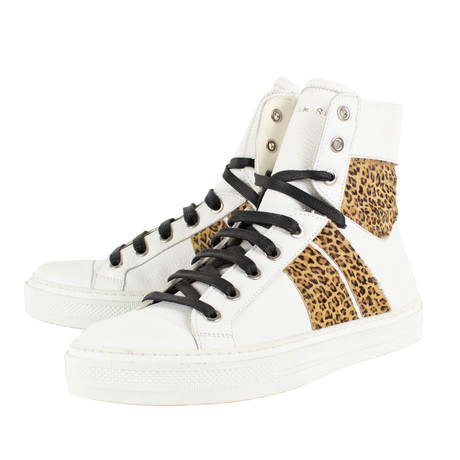 Amiri // Sunset Hi-Top Sneakers // Leopard (US: 6)