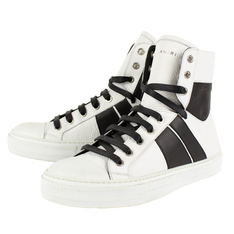 Amiri // Jul Sunset Hi-Top Sneakers // White + Black (US: 6)