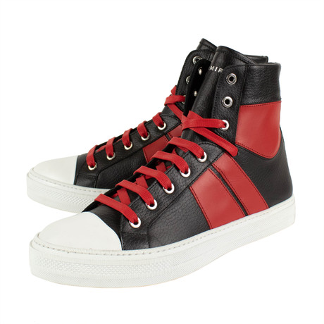 Amiri // Jin Sunset Hi-Top Sneakers // Black + Red (US: 6)