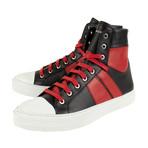 Amiri // Jin Sunset Hi-Top Sneakers // Black + Red (US: 8)