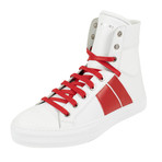 Amiri // Kayd Sunset Hi-Top Sneakers // White + Red (US: 8)