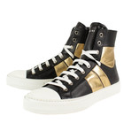 Amiri // Kayd Sunset Hi-Top Sneakers // Black + Gold (US: 8)