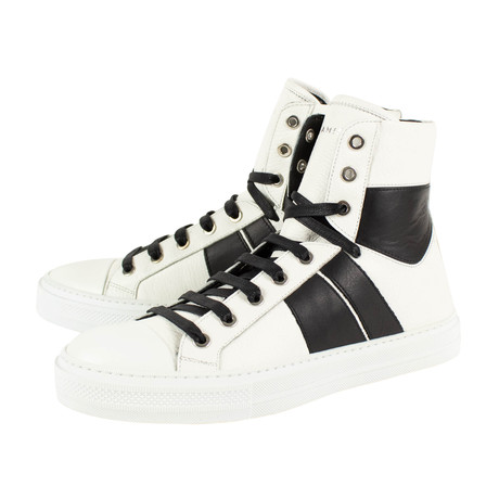 Amiri // Lux Sunset Hi-Top Sneakers // White + Black (US: 6)