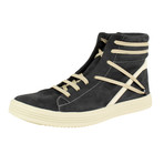 Rick Owens // Geothrasher High Leather Sneakers // Black (US: 9)