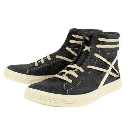 Rick Owens // Geothrasher High Leather Sneakers // Black (US: 6)