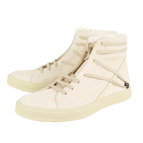 Rick Owens // Geothrasher High Natural Sneakers // White (US: 6)