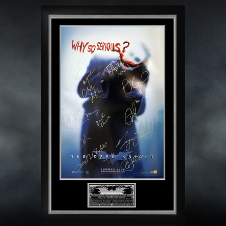 Dark Knight // Cast Signed Poster // Custom Frame