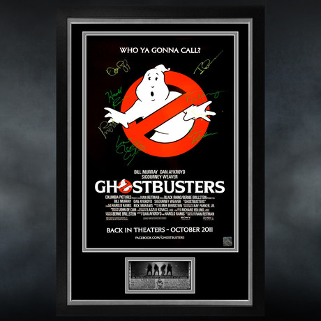 Ghostbusters // Cast Signed Poster // Custom Frame