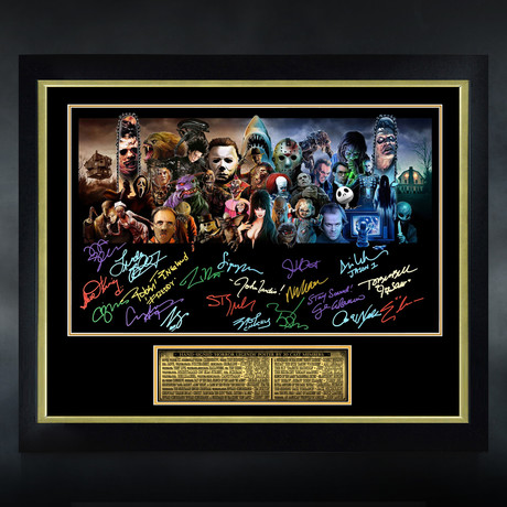 Horror Legends // Signed Poster // Custom Frame